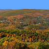 Panorama of North Adams, Massachusetts, looking down from the gift shop just east on Route 2 from the hairpin turn.