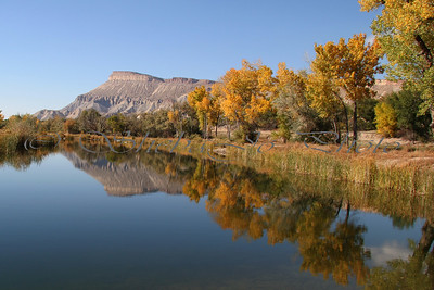 Mt Garfield from River Bend Park in Palisade, Colorado.