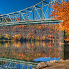 """Autumn splendor on the Ohio river.<br /> NOTE:  You can add a beautiful custom frame to this image at  <a href=""""http://www.americanframe.com"""">http://www.americanframe.com</a>.  Just type jay seeley into the search box and go from there."""