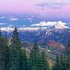Alpi Carniche (Acomizza a sinistra) e Giulie orientali (Škrlatica, Ponze, Mangart, Lussari dal centro, a destra) visti dalla Val Uqua/Valle di Ugovizza alle pendici del monte Cocco. <br /> <br /> Foto n°161013-346978