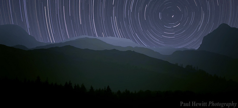 Startrails over Lake Windermere
