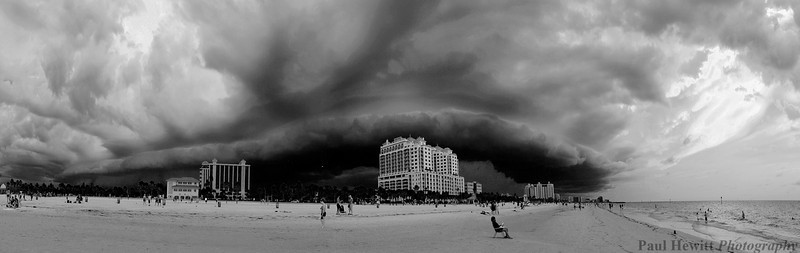 Stormy Clearwater beach, Florida.