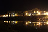 Fonterra Dairy Factory, Edgecumbe at night - from across the Rangitaiki River