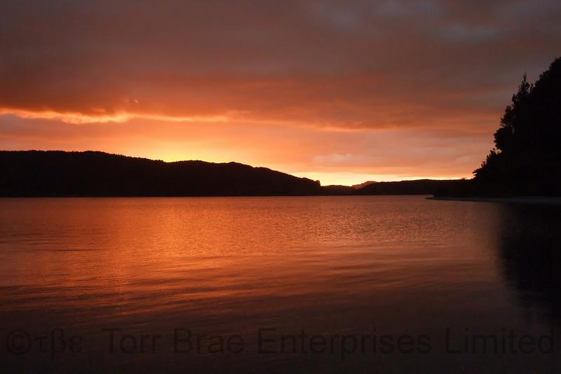 Lake Rotoma at Sunset