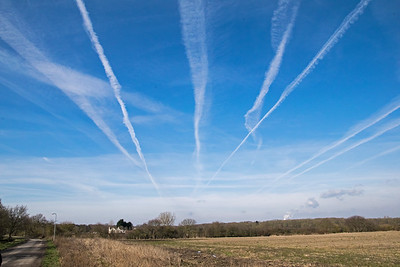 Vapour Trails over Skellingthorpe Old Wood