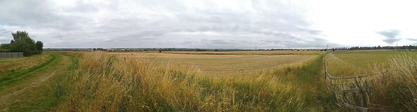 Phone panorama of the fields east of North Hykeham