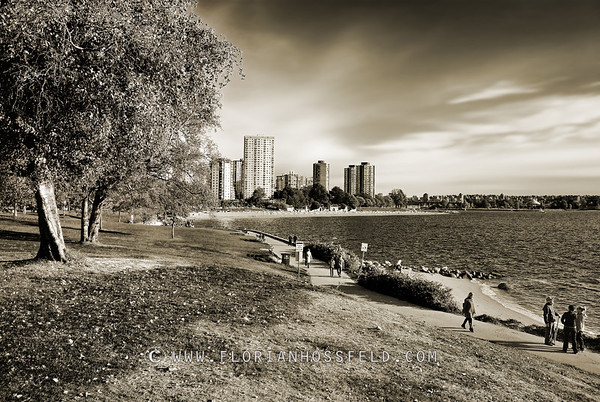 Stanley Park & English Bay (color version available)