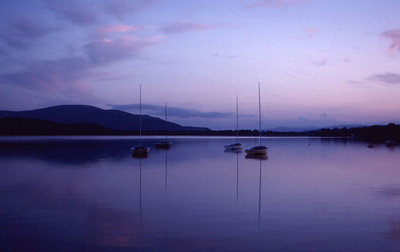 Sunset afterglow, Loch Morlich, Cairngorms, Scotland