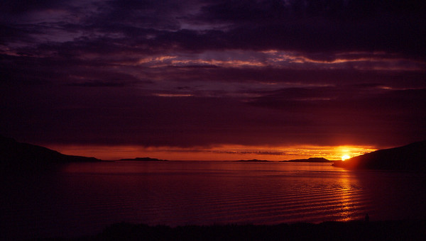 Sunset over the Summer Isles from near Ullapool, NW Scotland