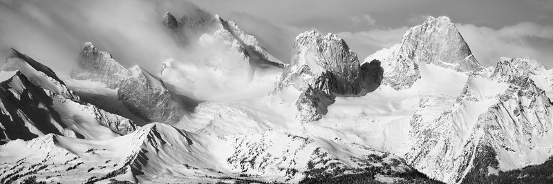 Winter in the Bugaboos Panorama