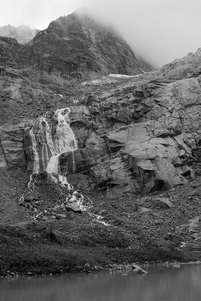 Waterfall at Iceberg Lake