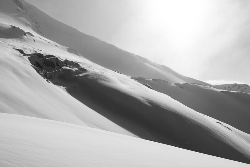 Crevasses in Sundance Pass