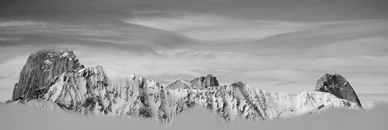 The tops of the Bugaboos from near Stockade Creek