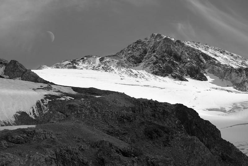 Redline Peak and the Moon