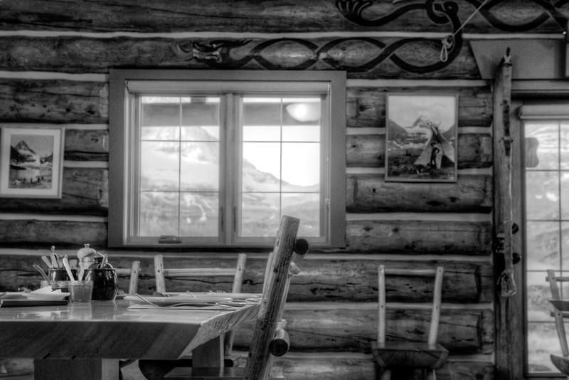 Inside Assiniboine Lodge
