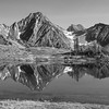 Reflections of Mount Hatters from Hume Creek