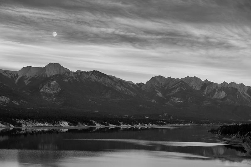 Moonrise view, Lake Windermere