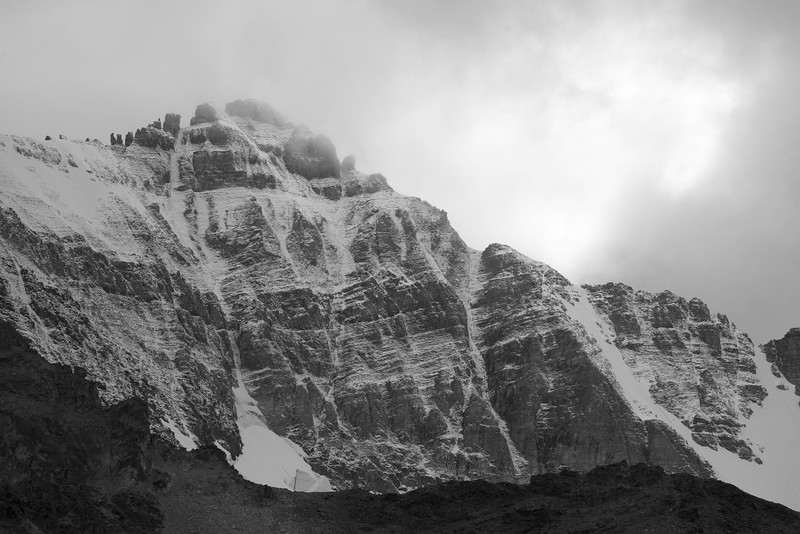 September snow on the North Face of Mount Delphine