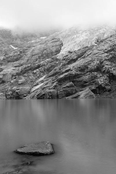 Rain at Iceberg Lake