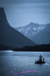 Wild Goose Island in Saint Mary Lake, Glacier National Park.