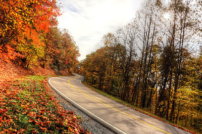 The Back of the Dragon runs 32 miles between Marion, Virginia and Tazewell. The challenging mountain road has reverse curves, switchbacks, and steep mountain grades.