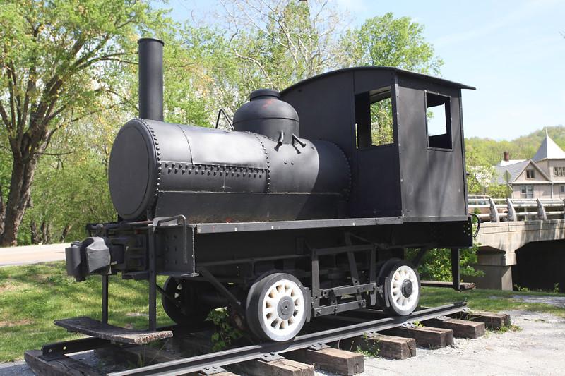 Black Train Engine, Town Park, Damascus, Virginia