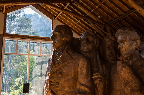 Model Mount Rushmore and Real Mount Rushmore