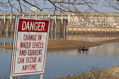 Taken 1-16-11 on a twenty degree morning.  Water levels are much lower than the March 2008 photos. Bagnell Dam, Lake of the Ozarks Missouri