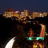 El Cortez Hotel & Skyline at Night