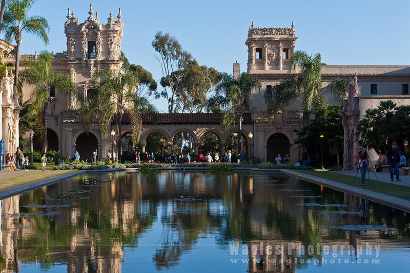 """The '""""Casa de Balboa"""" beyond the Reflection Poo, Balboa Park"""