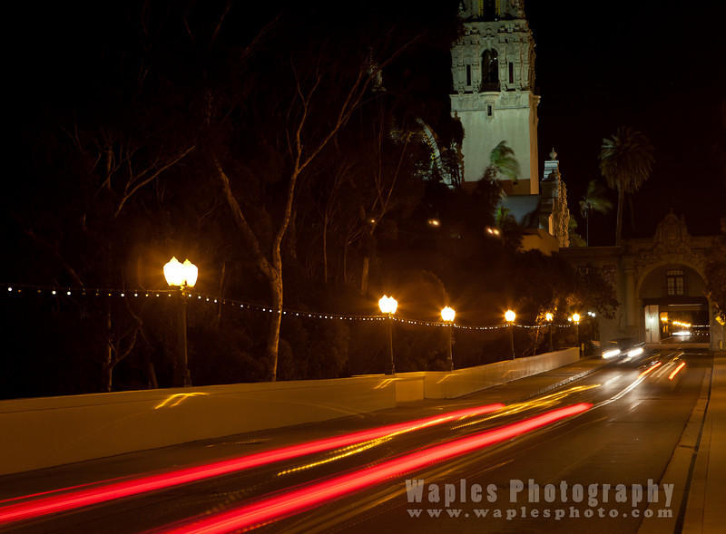 Along the Cabrillo Bridge at Night