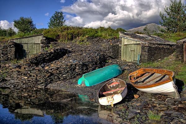 Slate Boat Sheds at Ballachulish