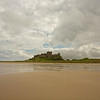 Bamburgh Castle from the beach