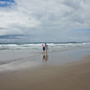 having a paddle in the North Sea