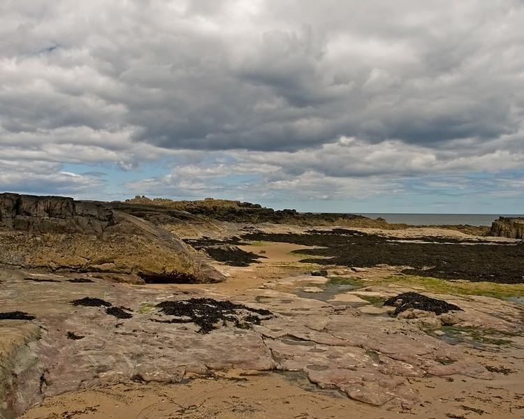 Bamburgh beach and castle