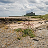 Bamburgh beach and castle