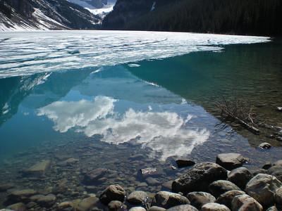 Beautiful reflection in Lake Louise