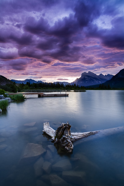 Stormy sunrise in Banff - Vermilion Lakes is one of Banff's closest lakes, and photographed quite a lot, but each day seems to bring a different light that never disappoints.