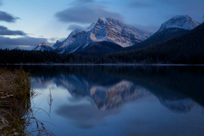 Waterfowl Lake Full Moon