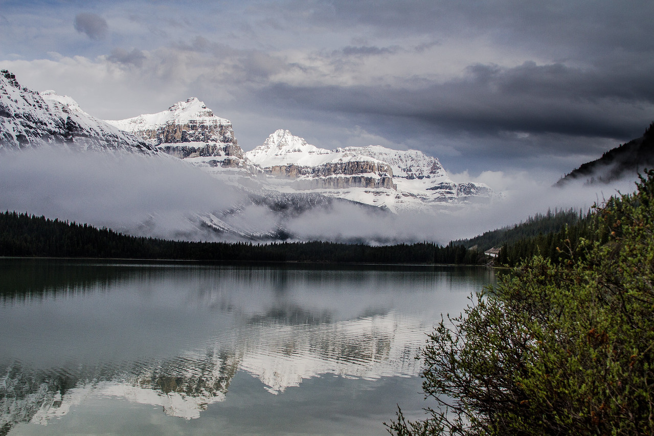 Waterfowl Lake on a stormy June