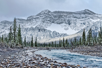 Winter's Kiss on Mt. Daly - snow is starting to take hold in the Rockies a sure sign of the long winter to come, excited!