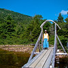 Carol on the Bridge at Jordan Pond: Acadia National Park, Bar Harbor Maine 2008
