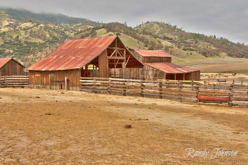 Barns, Barns,Rusted roof.Rankin Ranch Walker Basin California