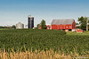 Red Barn, Blue Silo - This is another barn I see every day on the way to work that often catches my eye.