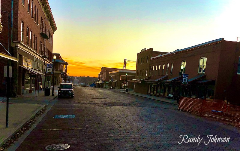 Sunrise on Wall Street Fort Scott Kansas