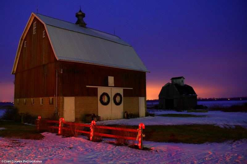 January 25, Another perspective on my favorite barn.