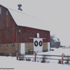 January 22, One of my favorite barns in the area. It was a bad lighting day so I opted for some softening in pp to shoot for a linen feel...Moderately pleased but snow on the lens gave me a few smudges I need to correct.