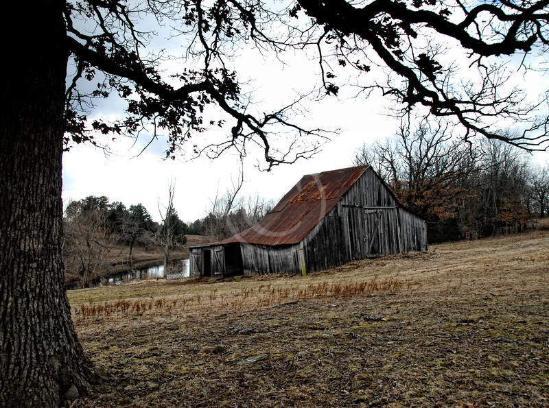 Old barn in Oklahoma