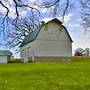 April 12, A new barn but one that I thought still has character as it is framed wonderfully by majestic trees