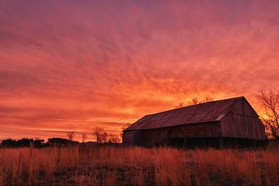 Sam James Barn Sunrise